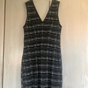 Tart Black & White Print Sleeveless Dress Size S